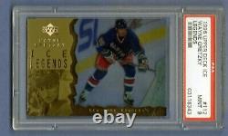 Wayne Gretzky 1996-97 Upper Deck Ice Ice Legends Gold #112 Psa 9 Mint Pop 13
