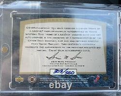 Wayne Gretzky 1997-98 Upper Deck SP Authentic Mark Of A Legend #M6 Auto /560
