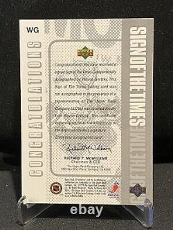 Wayne Gretzky 1998-99 Sp Upper Deck Sign Of The Times On Card Auto Auto Rangers