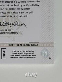 Wayne Gretzky 2010-11 Upper Deck SP Authentic Limited Auto Patch /25