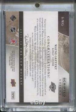 Wayne Gretzky 2011-12 Upper Deck The Cup Scripted Sticks Autographed 21 /35