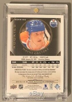 Wayne Gretzky 2015-16 Upper Deck Black Quad Diamond Relics Rookie Sp /99 Rare