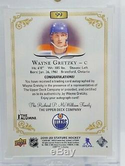 Wayne Gretzky 2019-20 Upper Deck Stature GREEN AUTO SP 13/25 Edmonton Oilers