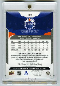 Wayne Gretzky 2019-20 Upper Deck Ultimate Collection Legends #100 AUTO