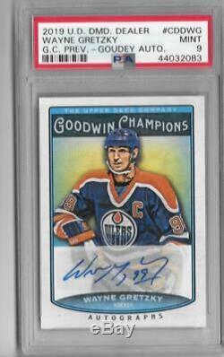 Wayne Gretzky 2019 Upper Deck Goodwin Champions Goudey Autograph Auto Psa 9 Mint