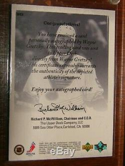 Wayne Gretzky 99-00 Upper Deck Authentics Auto /99 St Louis Blues Super Rare