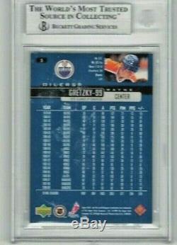 Wayne Gretzky 99 Auto Card'99-00 Upper Deck Beckett Authentic Edmonton Jersey