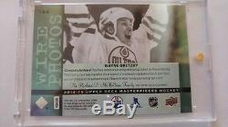 Wayne Gretzky Autograph 2014-15 UD Upper Deck Masterpieces 194 Wire Photo AU