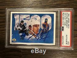 Wayne Gretzky Autographed 1992 Upper Deck Card PSA/DNA Autograph Signed Auto HOF