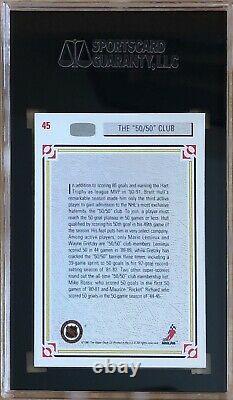 Wayne Gretzky Autographed Signed 1991-92 Upper Deck Card #45 SGC Authentic