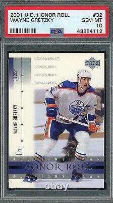 Wayne Gretzky Edmonton Oilers 2001 Upper Deck Honor Roll Hockey Card #32 PSA 10
