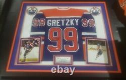 Wayne Gretzky Edmonton Oilers Signed Blue CCM Heroes Of Hockey Jersey Upper Deck
