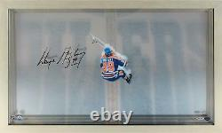 Wayne Gretzky Edmonton Oilers Signed Great From Above Display Upper Deck