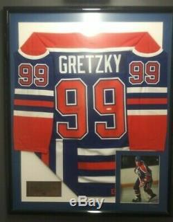 Wayne Gretzky Framed Autographed Edmonton Oilers Jersey Upper Deck 33/250