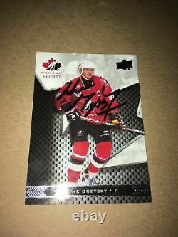 Wayne Gretzky SIGNED 18/19 UPPER DECK CANADA JUNIORS card TEAM CANADA #99