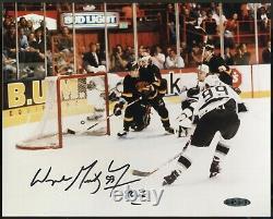 Wayne Gretzky Signed 8x10 Goal UDA Upper Deck COA Kings 802 Inscribed Auto RARE