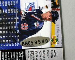 Wayne Gretzky Signed Auto Autograph 2-card 1997-98 Ny Rangers Upper Deck Uda Sp