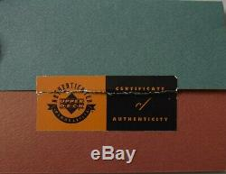 Wayne Gretzky Signed Auto Autograph Stick Blade Display Upper Deck Uda #32/199