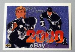 Wayne Gretzky Signed Auto Autograph Uda Upper Deck 1993 2000 Point #345/2000