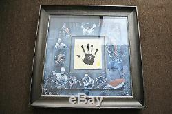 Wayne Gretzky Signed Autographed 36X36 Framed Print Tegata Hand Print Upper Deck