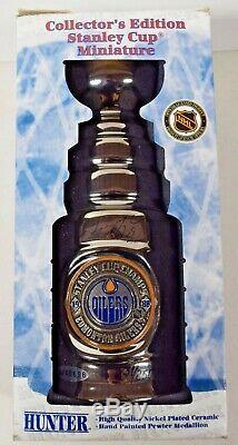 Wayne Gretzky Signed Oilers Mini Stanley Cup Upper Deck COA /250 NIB MINT! RB026