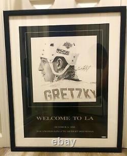 Wayne Gretzky Upper Deck Welcome to LA Signed Matted Framed Poster Art UDA COA