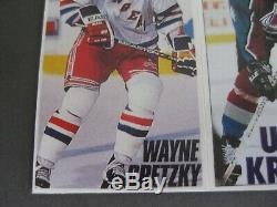 Wayne Gretzky rare ger Card Sticker NHL New York Rangers Jersey upper deck topps
